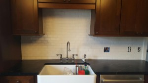 subway-tile-backsplash-in-process